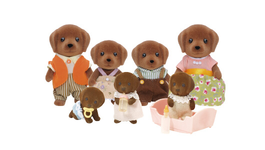 Chocolate Labrador Family