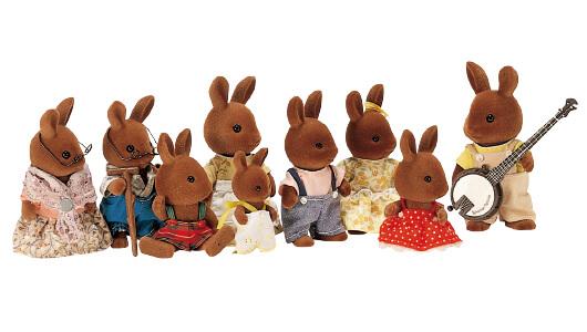 Brown Rabbit Family
