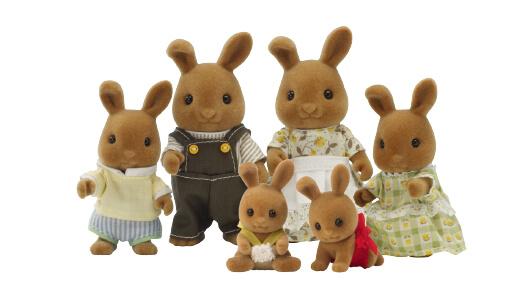 Fawn Rabbit Family