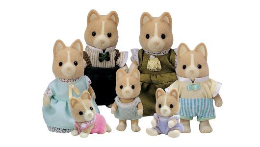 Ocher Dog Family