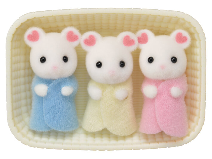 Marshmallow Mouse Triplets - 3