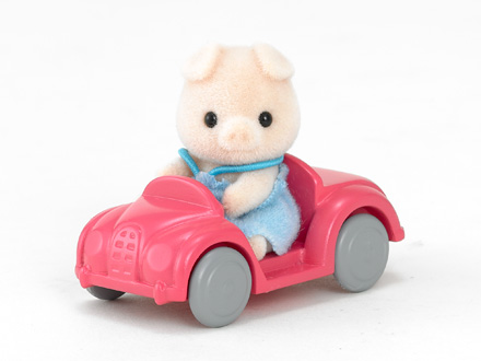 Pig Baby with Car - 2