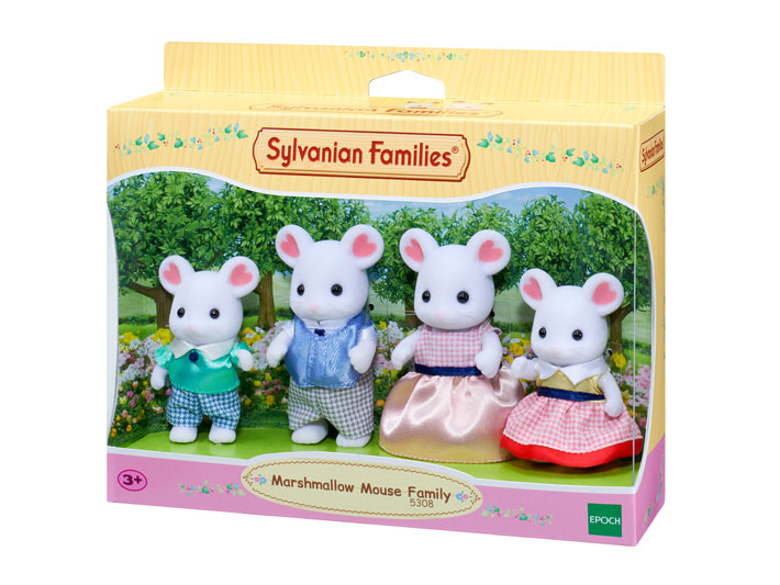 Marshmallow Mouse Family - 5