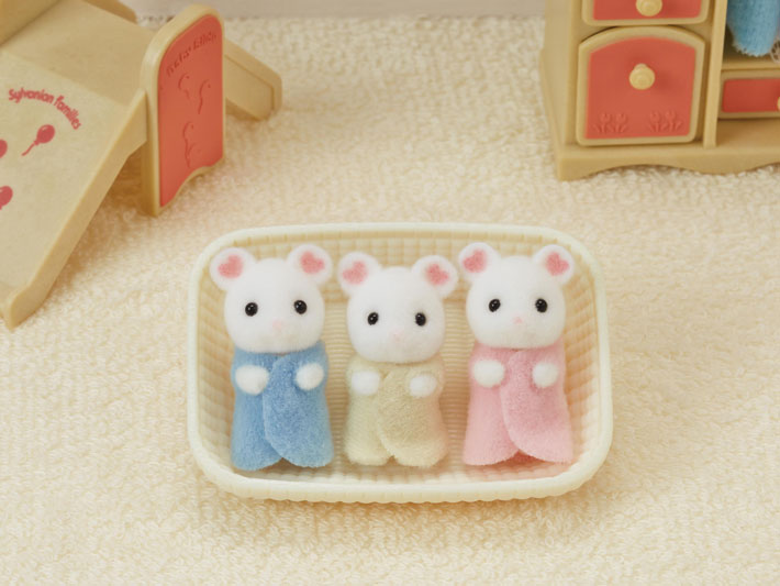 Marshmallow Mouse Triplets - 4
