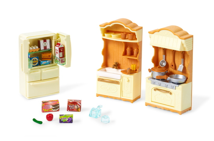 Kühlschrank Neu : Landhaus küche mit kühlschrank neu sylvanian families