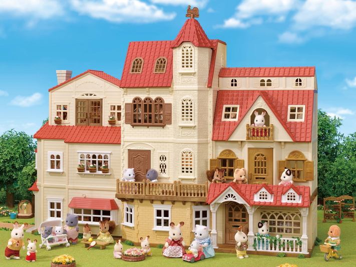 Red Roof Tower House Gift Set - 13