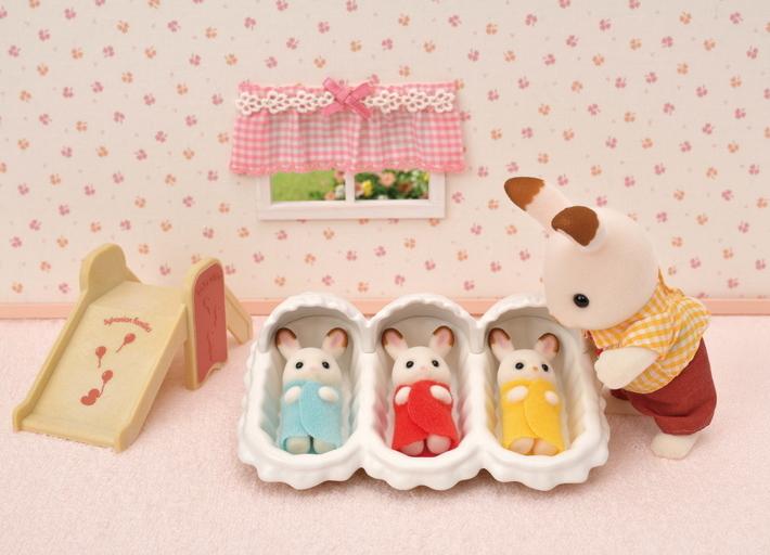 朱古力兔三胞胎連家具套裝 - 8