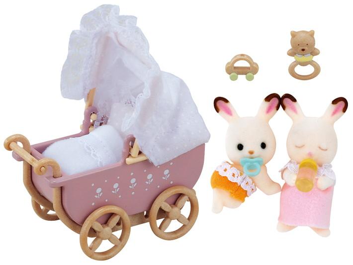 Schokoladenhasen Zwillinge mit Kinderwagen - 4