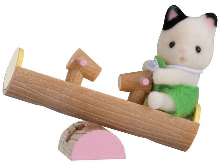 Minibox: Katze auf Wippe  - 3
