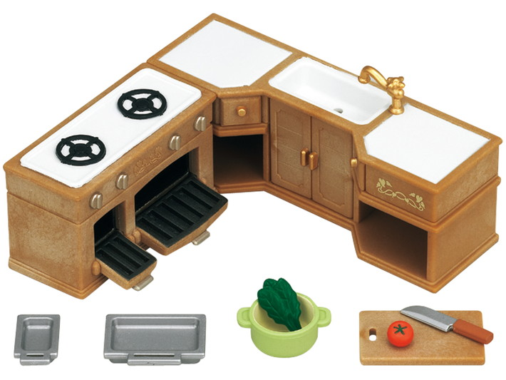 Kitchen Stove, Sink & Counter Set - 5