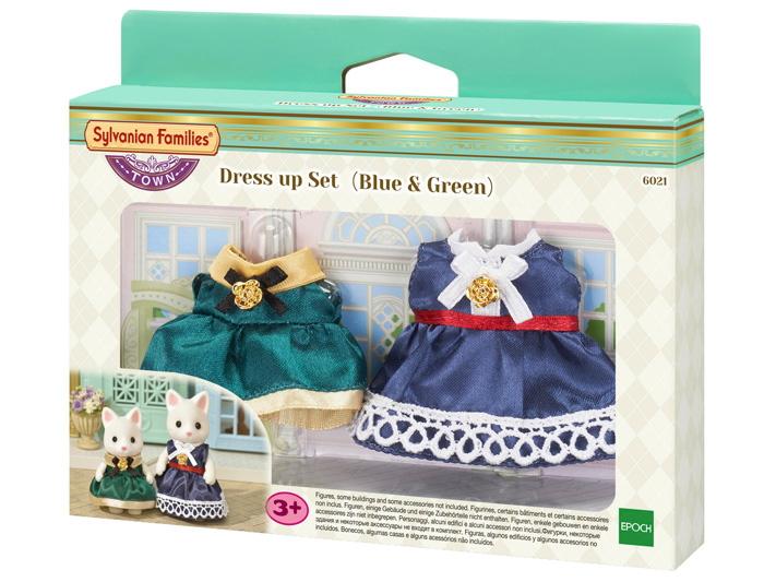 Set Vestido ( Azul y Verde ) - 5