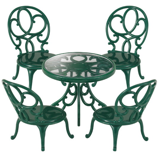Ornate Garden Table & Chairs - 4