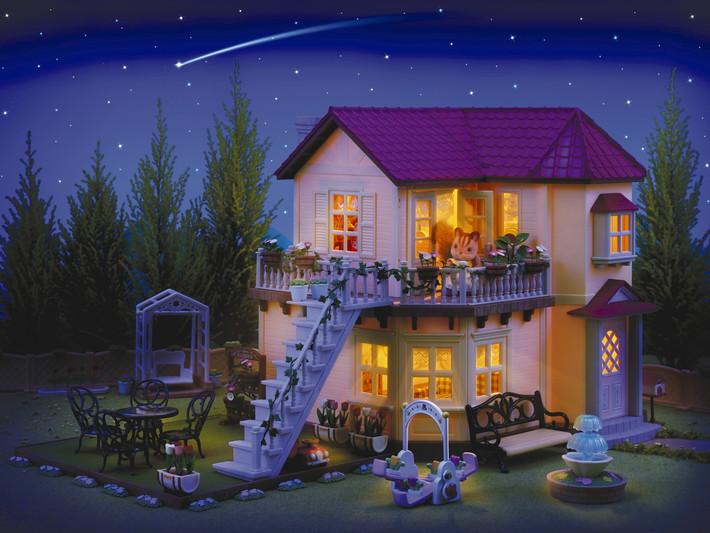 Divstāvu mājas ar gaismām dāvanu komplekts - 10
