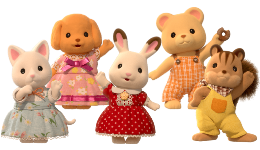 You can meet the friends from Sylvanian Families on Netflix!