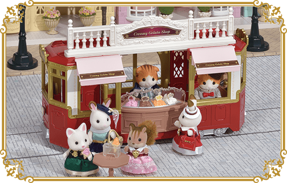 Connect with the Ride Along Tram to serve gelato to passengers!